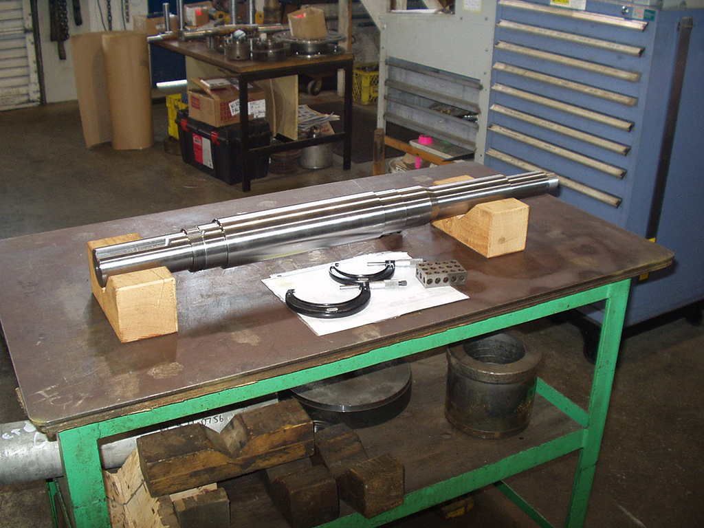 pump shaft manufacturing for pulp mill