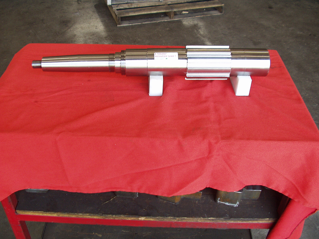 splined gear reducer shaft