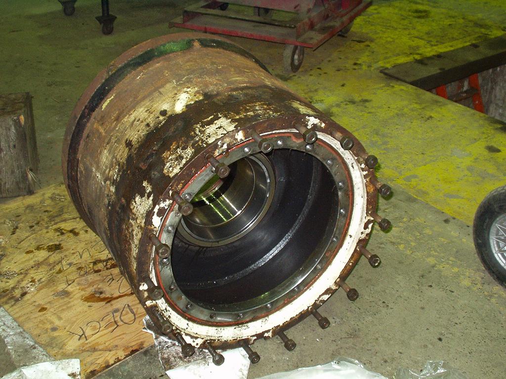 Repairing Wagner loader stacker drive hub