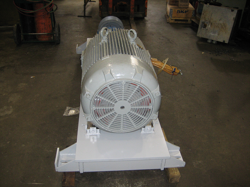 electric motor base for sand and gravel quarry