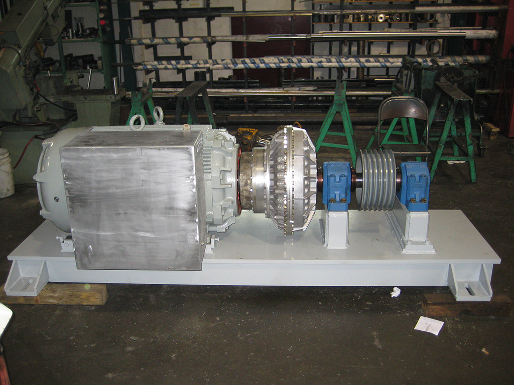 electric motor base showing viscous coupling