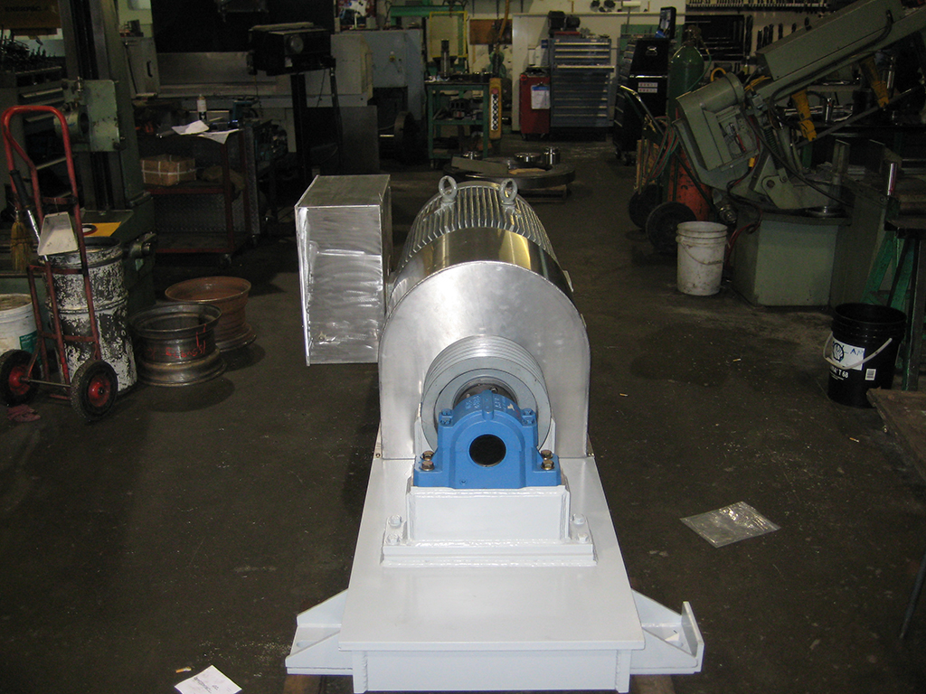 electric motor base for conveyor drive
