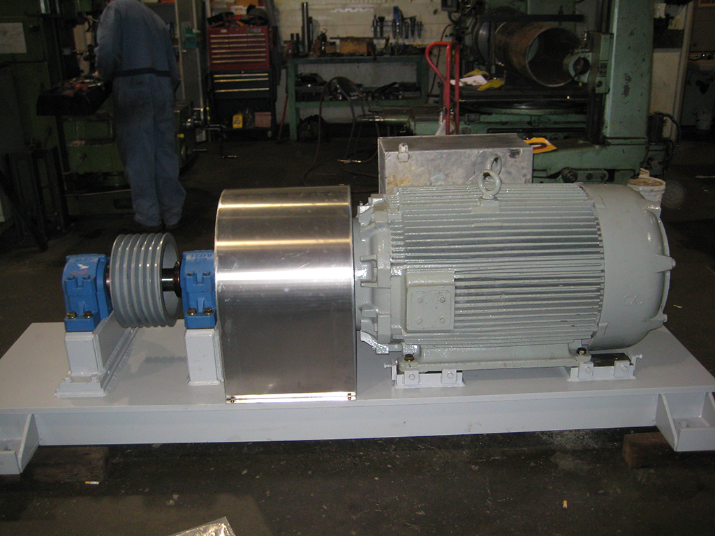 electric motor base for conveyor drive